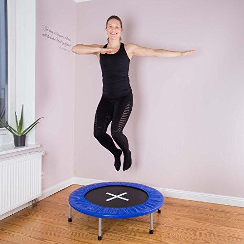 Ultrasport Trampolin Jumper 96 cm Ø – 6 Füße – 32 Federn - 6