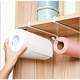 flyyfree movimiento y libre perforado Wrap salvamanteles de plástico soporte para rollo de papel de cocina toalla de cocina accesorio de armario Rack de almacenamiento de servilletas soporte
