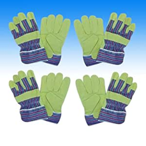 1 paar leder arbeitshandschuhe handschuhe gartenhandschuhe. Black Bedroom Furniture Sets. Home Design Ideas