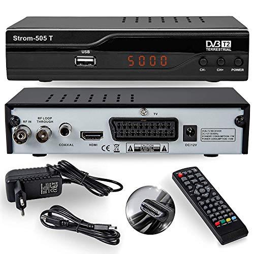 hd-line Strom 505 T DVB-T2 Receiver 1080i - 1080p Standard, schwarz