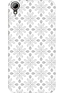 AMEZ designer printed 3d premium high quality back case cover for HTC Desire 828 (rose grey )