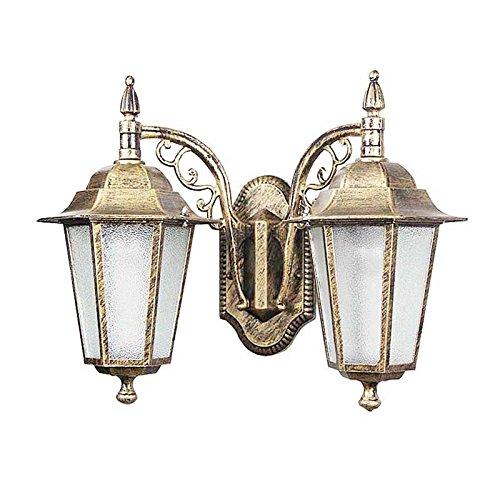 Ehime illuminazioni per pareti lampade da parete illuminazione per esterni lanterne luci da parete outdoor luci da parete impermeabile testa doppia balcone cortile luci da parete esterna in giardino pilastri cancello, luci da parete luci esterne