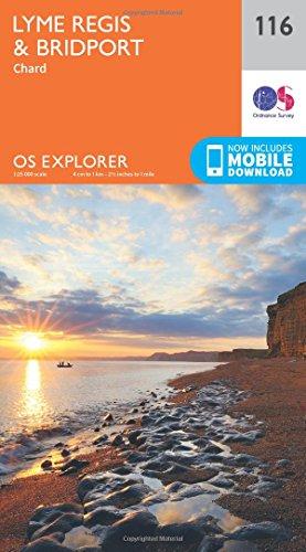OS Explorer Map (116) Lyme Regis and Bridport