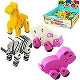 German Trendseller® - 8 x Radierer Tiere 3D ┃ Streichel Zoo ┃ Radiergummis ┃ Ratzefummel ┃ Kinder lieben diese bunten Tier Radierer!