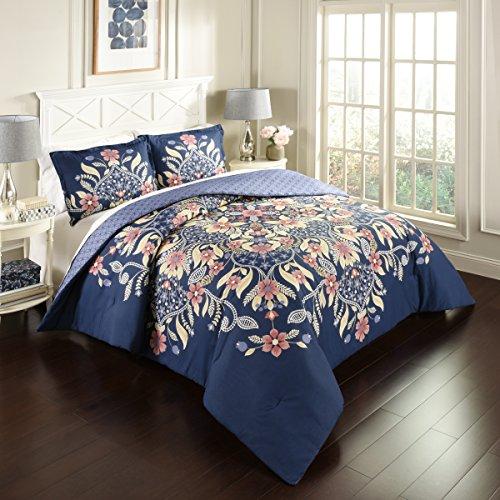 Marmor Hill 3Stück Floral Fantasy Wende Tröster Set, Multicolor, Full/Queen -