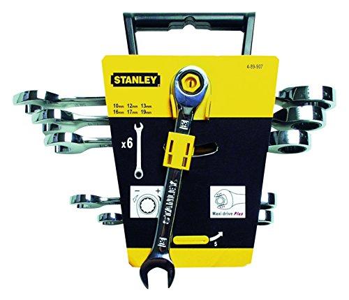 Stanley 4-89-907 Juego de 6 llaves combinadas de carraca
