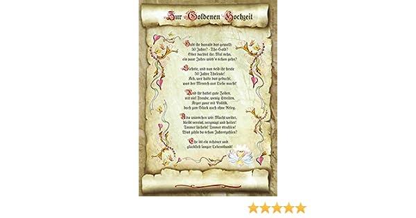 Geschenk Goldene Hochzeit Urkunde Gedicht Präsent Jubiläum