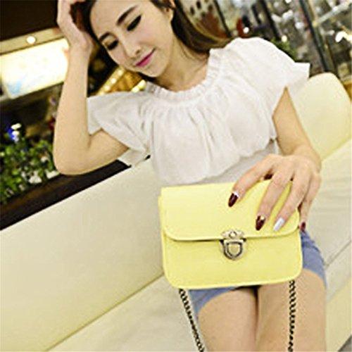 Lovely Taschen, brezeh Mädchen PU Leder Mini Kleine Schultertasche Handtasche grün gelb
