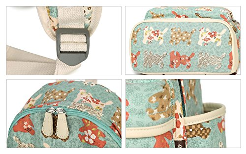 Artone Wasserabweisend Grösse Kapazität Daypacks Schulranzen Rucksack Mit Laptop-Fach Passen 14 Notizbuch Grün Kaninchen Blau Set von 3