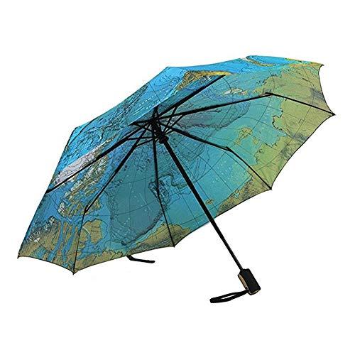 4611e807d SHKY Travel World Map Umbrella - Paraguas automático Paraguas Plegable  Sombrilla Paraguas a Prueba de Viento