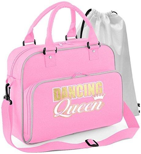 MusicaliTee Ballet Dancer - Dancing Queen - Rosa PINK - Tanztasche & Schuh Tasche Dance Shoe Bags