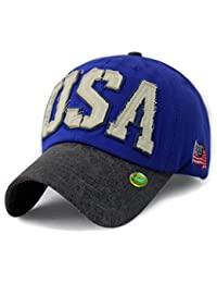 LOCOMO Unisex US Country Flag New York Patriot Snapback Cap FFH320BLK