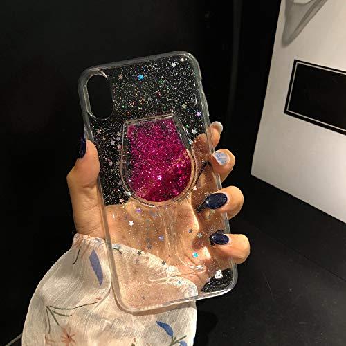 Misstars Glitzer Flüssig Hülle für iPhone 7/ iPhone 8, Luxus Bling Sterne Pailletten Handyhülle...
