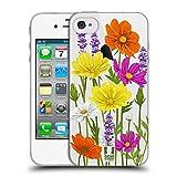 Head Case Designs Cosmos Rosen Und Wildblumen Soft Gel Hülle für iPhone 4 / iPhone 4S
