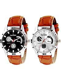 Ravinson 3801SL0103 New Combo Leather Strap Casual Analog Watch For Men