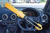 Twin Bar: Streetwize SWTBL Twin Bar Wheel Lock 2 keys High Visibility Deterrent Anti-theft, Yellow Colour