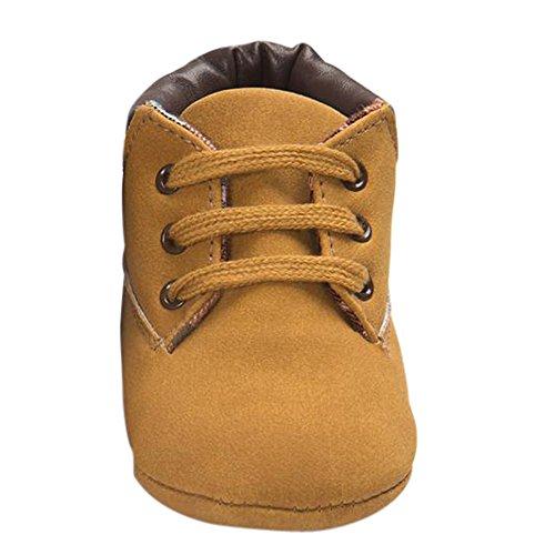 Baby Kinder Weiche Sohle Leder Schuhe, Zolimx Junge Mädchen Kleinkind Boots (6-12 Monate, Khaki) (6 Boot)