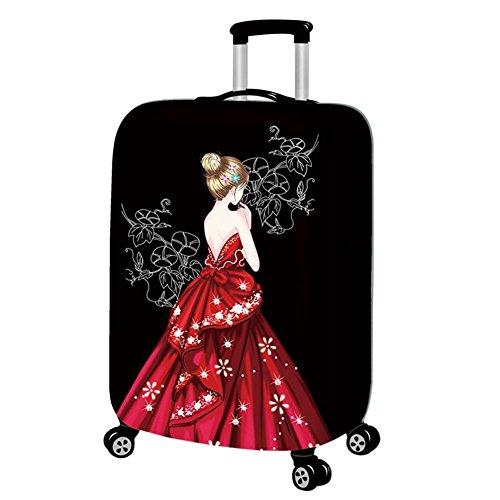 """Hzjundasi Lavable Beau Fille Élastique Antipoussière Valise Baggage Couverture Bagage Protecteur 18-32"""""""