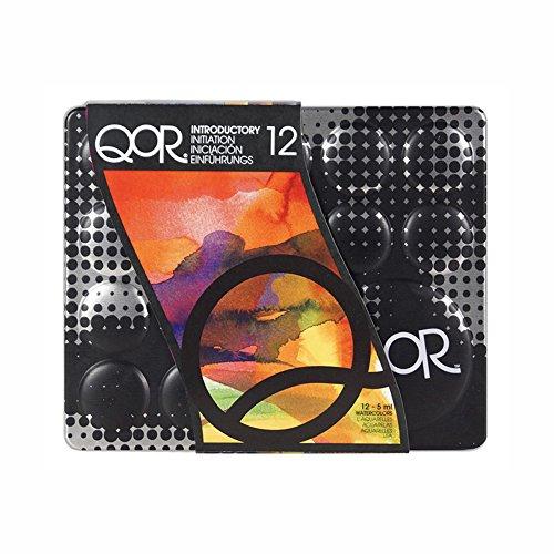 QoR Modern Watercolors - Aquarellfarbe - 11 ml - Einfuehrungs-Set mit 12 Farben
