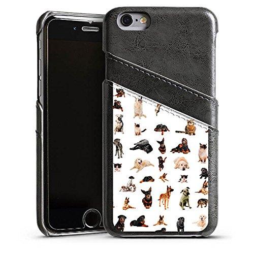 Apple iPhone 5s Housse Étui Protection Coque Chat Chien Golden Retriever Étui en cuir gris