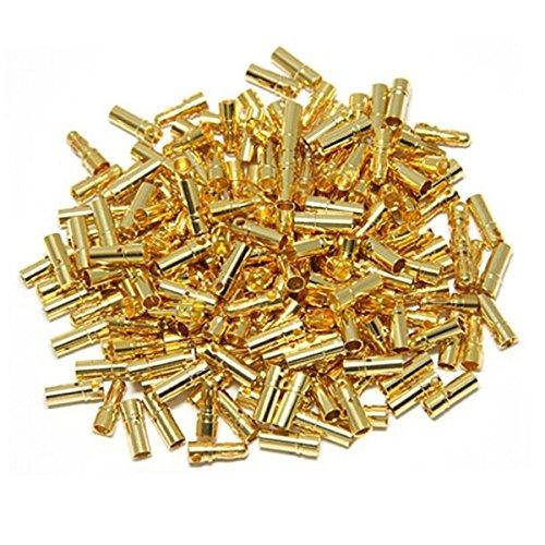 Foxnovo 20Coppia 3,5mm placcato oro maschio femmina Bullet Banana Connettori per RC Batteria ESC Moto