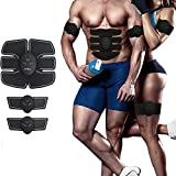 Inditradition EMS Muscle Stimulator & Abdominal Toner | Reduce Excess Body Fat | Complete Body Toning Device | With 3+3 Pads & Device, Unisex (Black)