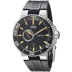 Oris Men's 74376734159RS Aquis Analog Display Swiss Automatic Black Watch
