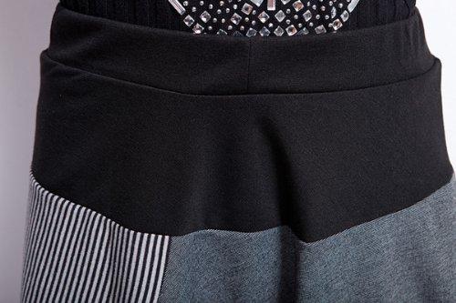 ELLAZHU, pantaloni lunghi da donna, stile Ampio, Baggy e Harem, con coulisse, taglia unica,, GY259 Grigio
