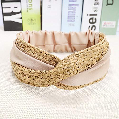 Cotton Striped Headwrap (A+TTXH+Headband Stroh Weben Stirnband Haarband Haarschmuck @ B)