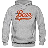 I'm a Bear #1 Hoodie Herren Super Bowl Play Offs Football Hoodies USA Kapuzenpullover, Farbe:Graumeliert (Greymelange F421);Größe:XXL
