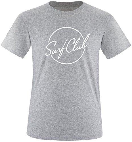 EZYshirt® Surfclub Herren Rundhals T-Shirt Grau/Weiss