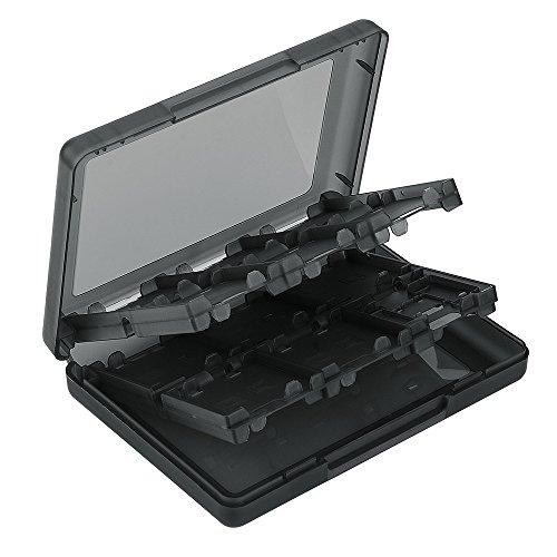 Asiv® Video Spiel SD Karte Speicher Karte Kunststoff Etui Box für Nintendo NDS/ NDSi/ NDSi LL/ 2DS/ 3DS/ 3DS XL/ Neue 3DS/ 3DS LL/ 4DS XL-Schwarz