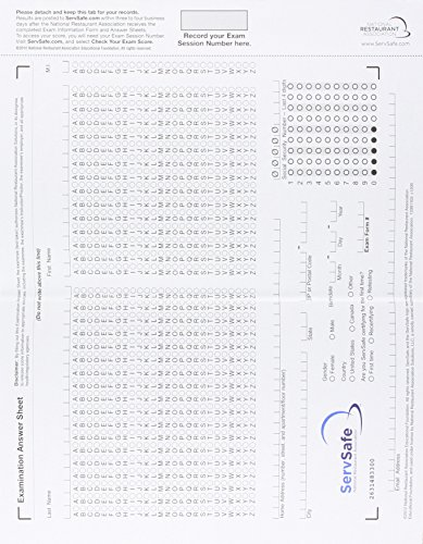 Download Servsafe Exam Answer Sheet For Pencil Paper Exam