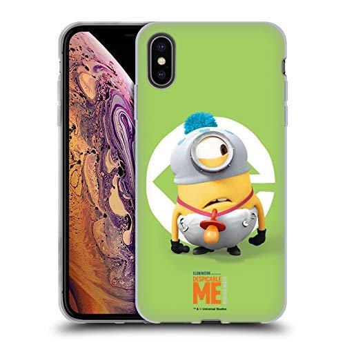 Head Case Designs Offizielle Despicable Me Stuart Baby Kostuem Minions Soft Gel Huelle kompatibel mit iPhone XS Max