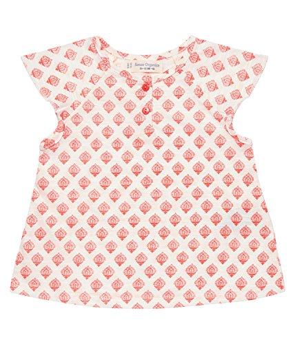 Butterfly Bio-kinder-t-shirt (Sense Organics Baby-Mädchen T-Shirt LULU Butterfly, Mehrfarbig (AOP Indian Block 781001) 74 (Herstellergröße: 6M))