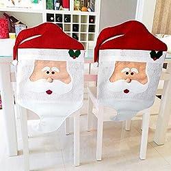 Zogin Fundas decorativas navideños para sillas con respaldo para la cena y fiesta de Nochebuena