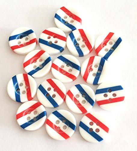 15 boutons acrylique avec le drapeau de la France 13 mm bastel Express