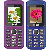 Hicell C5 (Combo Of Two MOBILES) Dual Sim Mobile Phone With Digital Camera And 1.8 Inch Screen (VoiletBlack+DarkBlueBlack)