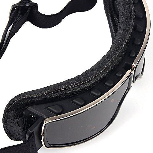 Masque moto type rétro Noir 4