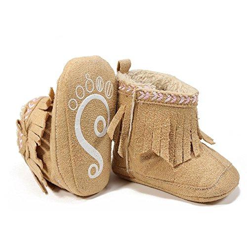 Itaar , Chaussures premiers pas pour bébé (fille) rose Rosa 12-18 mois kaki