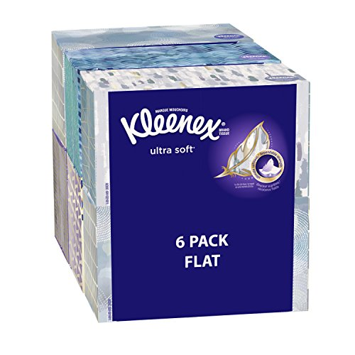 Kleenex Ultra Soft Facial Tissue Regular (Pack of 4), 120 count Each, 3 ply, White by KLEENEX