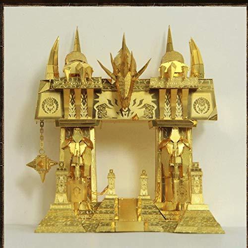 MQKZ 3D Metallpuzzle / World of Warcraft - Dunkle Tür / Modell DIY Junge Handmontiertes Modell Hand Kreatives Geschenk / gelb / Einheitsgröße
