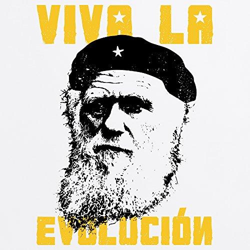 Darwin Viva La Evolucion T-Shirt, Damen Wei