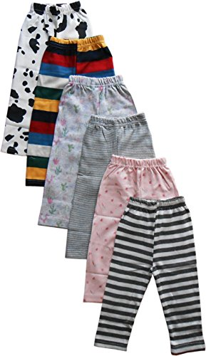 NammaBaby Printed Full Length Pajama/Pyjamas For Baby Boys And Baby Girls- Set Of 6 (6-9 Months)