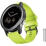 NotoCity Bracelet Vivoactive 4S, Remplacement de Silicone Souple pour Bracelet de Montre de 18 mm pour Montre Intelligente Ga