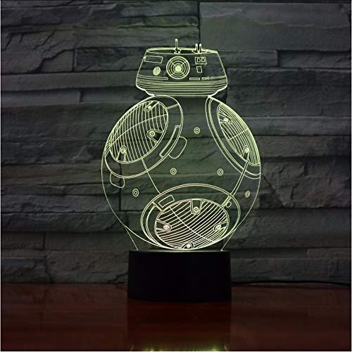 d Licht Schreibtisch Tisch Halloween Dekoration Geschenk Kid Abschluss Urlaub Usb 7 Farben Ändern Lava Lampe ()