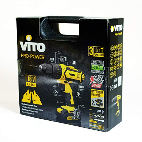 Akku-Bohrschrauber Vito 14,4V/2×2.0Ah + LED/Batterieanzeige - 6