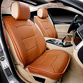 AMYMGLL Auto Kissen vier Jahreszeiten GM 3d Allleder Leder Leder Kissen 5 Farbauswahl Luxus 6 Sets , C