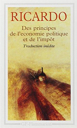 DES PRINCIPES DE L'ECONOMIE POLITIQUE ET DE L'IMPOT. Edition anglaise de 1821 par David Ricardo