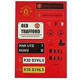 Manchester United Kid 's Aufkleber-Set–Bunt